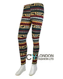 Lion Aztec Pattern knitted leggings