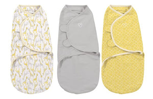 Summer Swaddleme-Grey Yellow Safari