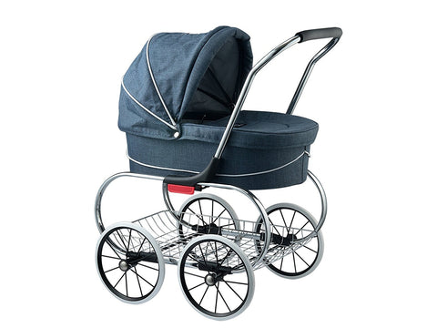 Valco Baby Classic Bassinest Doll Stroller-Denim Blue