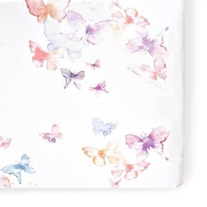 Oilo Butterfly Jersey Crib Sheet