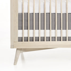 Oilo Solid Crib Skirt Stone