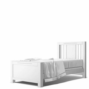 Venitanni Twin Bed Solid White/Bruno Antico
