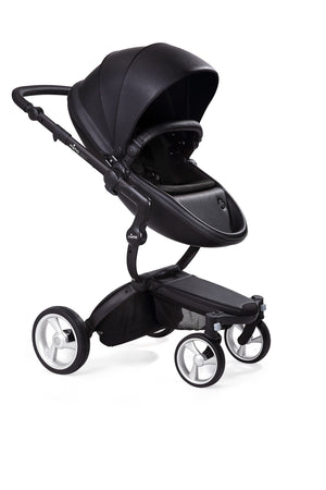 Mima Xari Stroller Complete w/car seat adapter-Black Chassis