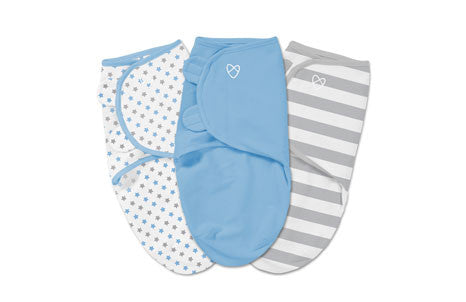 Summer SwaddleMe 3pk-Blue Stars/Stripes