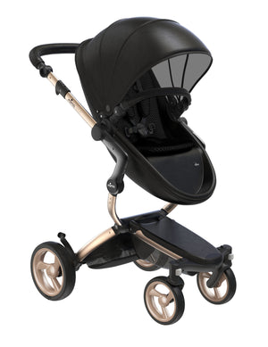 Mima Xari Stroller Complete w/car seat adapter-Champagne Chassis
