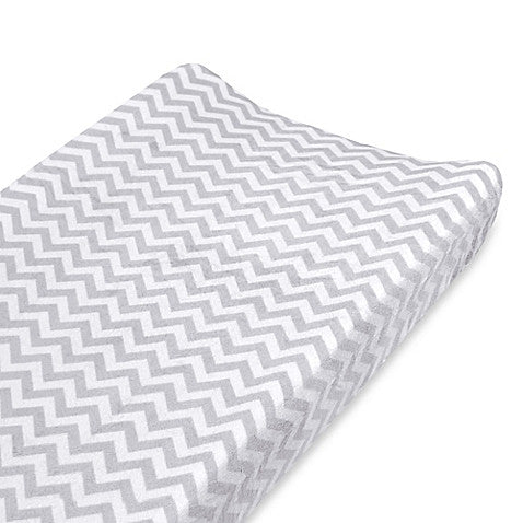 ABC Changing Pad Cover-Grey Chevron