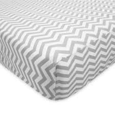 ABC Crib Sheet-Grey Chevron
