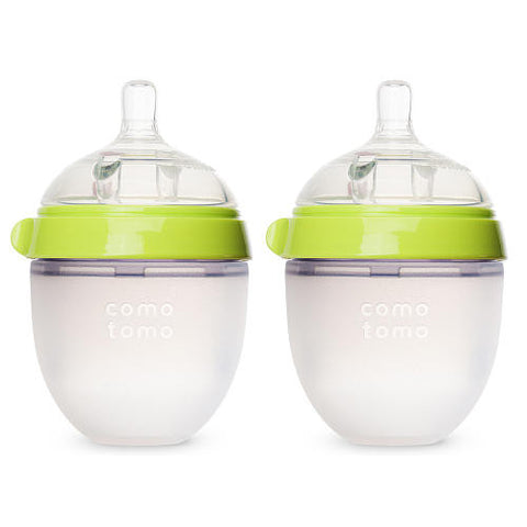 Comotomo Baby Bottle 2-pack 5oz Green