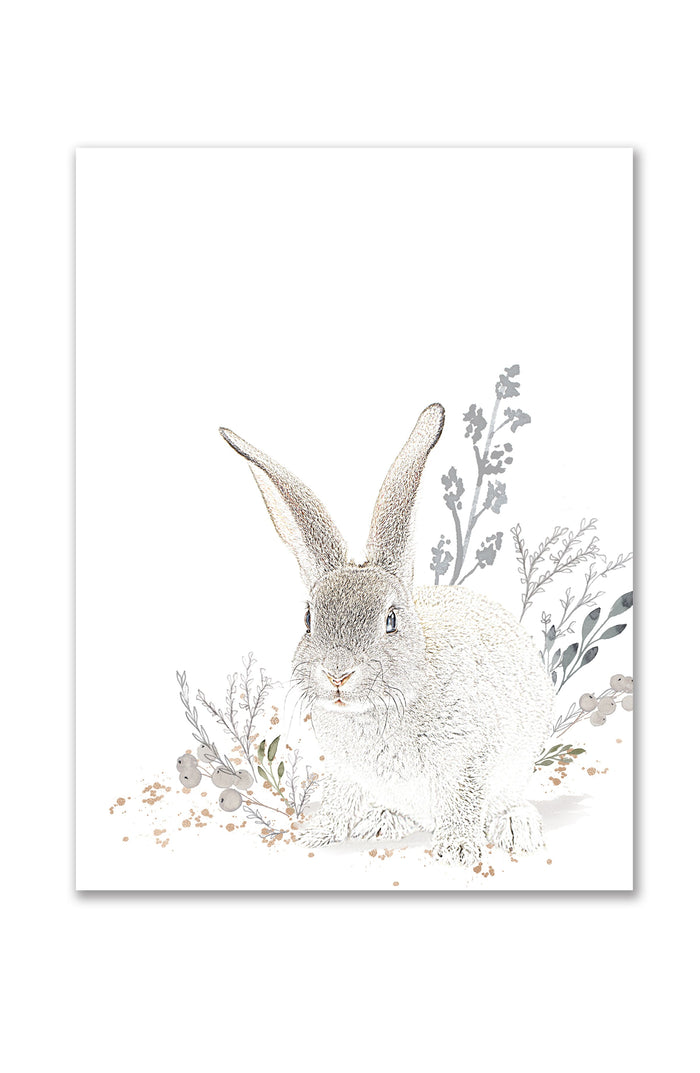 Oilo Cottontail Sitting Bunny Wall Art