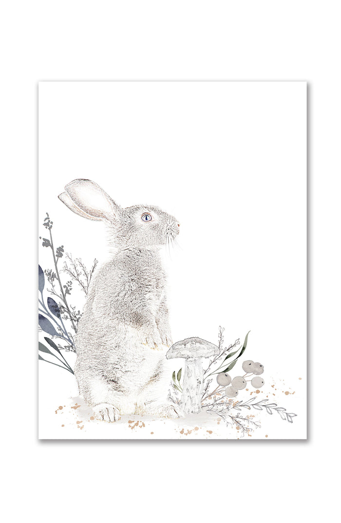 Oilo Cottontail Standing Bunny Wall Art