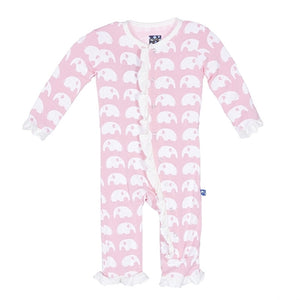 Kickee Pants Coverall-Lotus Elephant