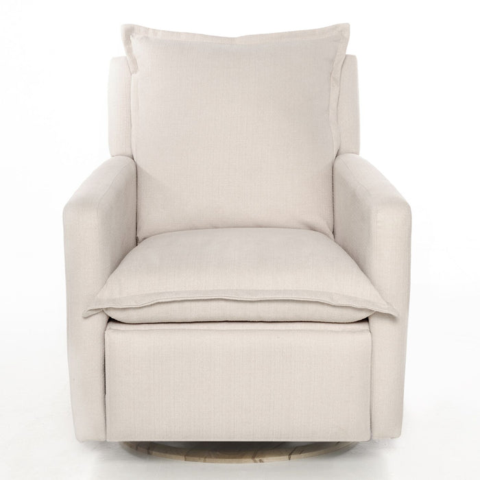 Oilo Flynn Recliner Swivel Glider Wood Base