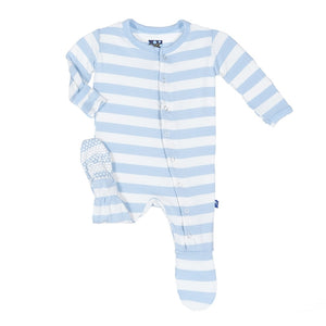 Kickee Pants Footie-Pond Stripe