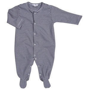 Kissy Kissy Footie-Navy Stripe
