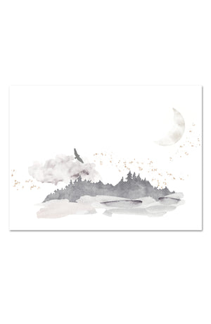 Oilo Misty Mountain Wall Art