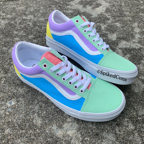 "Custom ""Sweet Tarts"" Vans -Old Skool"