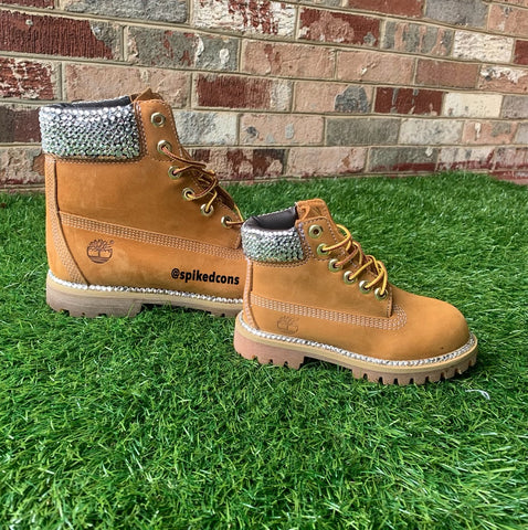 Custom Bling Timberlands -Wheat (Kids & Adults)- Add size to notes when ordering