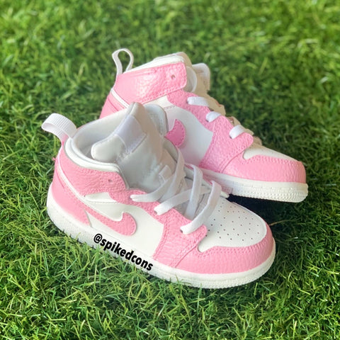 Custom Pink and White Jordan 1-Toddler