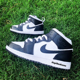 Custom Black and White  Jordan 1-Toddler