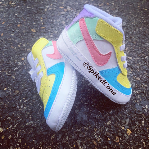 Custom AF1 Pastel Infant -Soft Bottoms