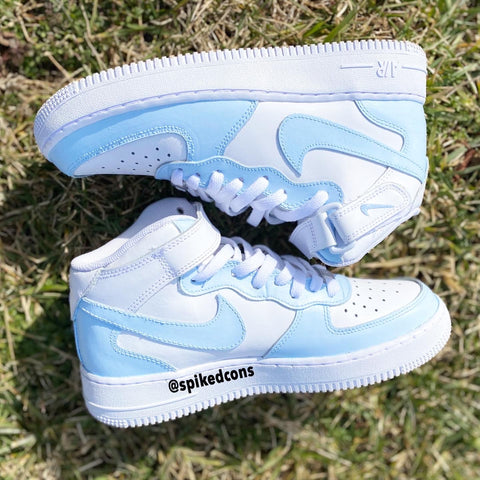 Custom Powder Blue Air Force 1-Mid
