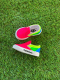 Custom Neon Slip On Toddler Vans