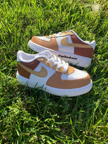 "Custom ""3 Shades of Brown"" Air Force 1"