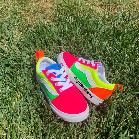 Custom Toddler Neon Vans-Limited Sizes