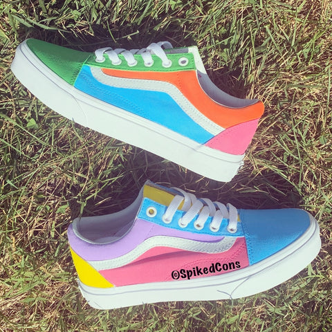 "Custom ""Color Block"" Vans -Old Skool"
