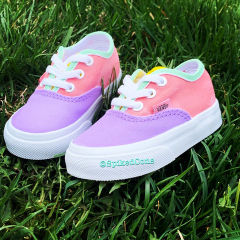 "Custom Authentic Vans -Pastels ""Spring"""