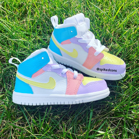Custom Jordan 1s -Toddler Kids (Pastel -No Mint)