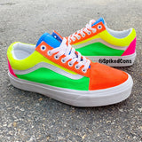 Custom Neon Vans-Old Skool