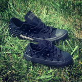 Custom Black on Black Studded Converse-Adults
