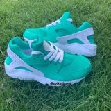 Custom Aqua  Nike Air Huaraches