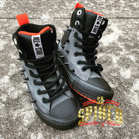 Custom Converse Sneaker Boots (Black/Red)