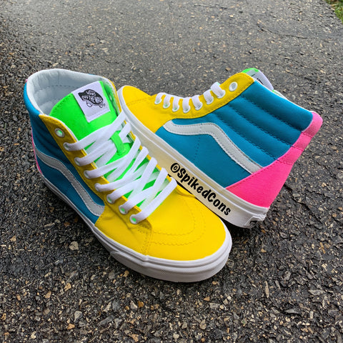 "Custom ""It's a Spring Thing"" Vans -Sk8 Hi"