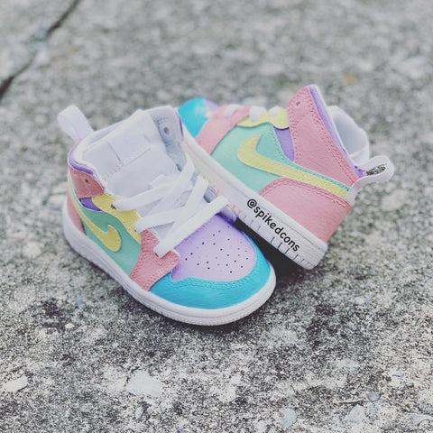 Custom Pastel Jordans -Toddler Kids