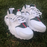 Green/Red Nike Air Huaraches **Add Exact Size in Notes**