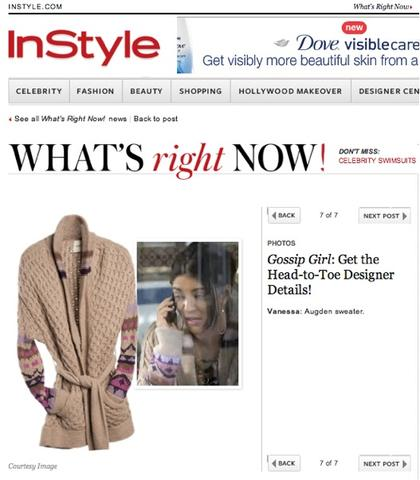 InStyle & Augden: What's Right Now