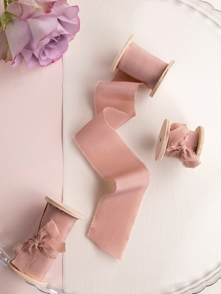 Silk ribbon | VINTAGE ROSE