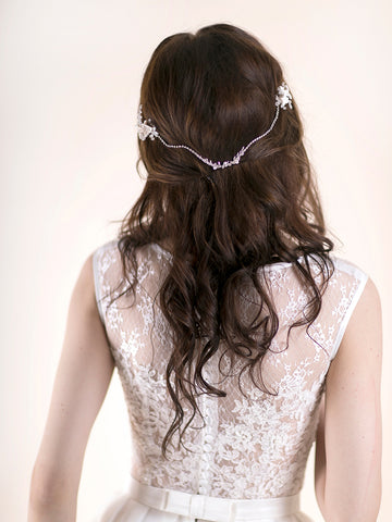 Flower Headpiece | LILY BLOOMS & RHINESTONE