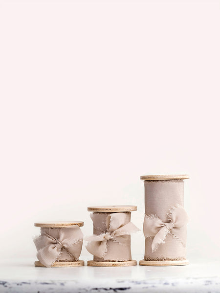 Silk ribbon | LIGHT TAUPE
