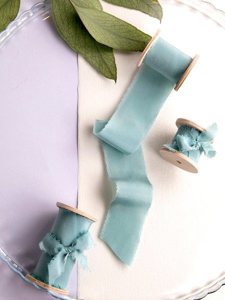 Silk ribbon | SEA GREEN