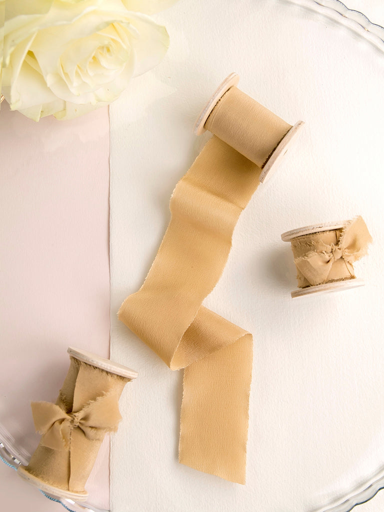 Silk ribbon | CARAMEL