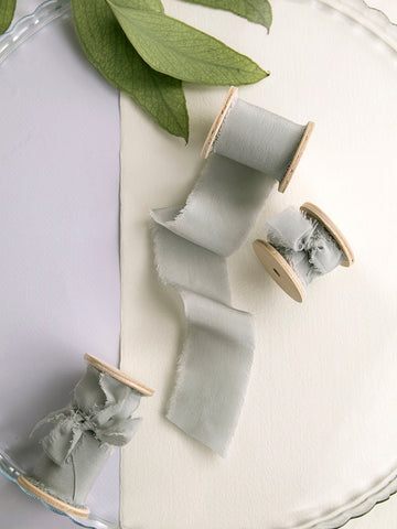Silk ribbon | SILVER SAGE