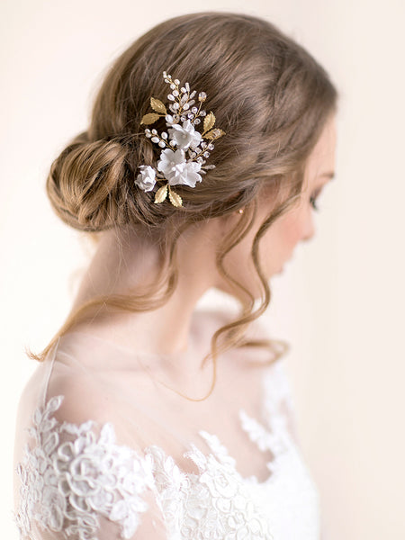 Flower Hair Comb | IRIS & CRYSTAL