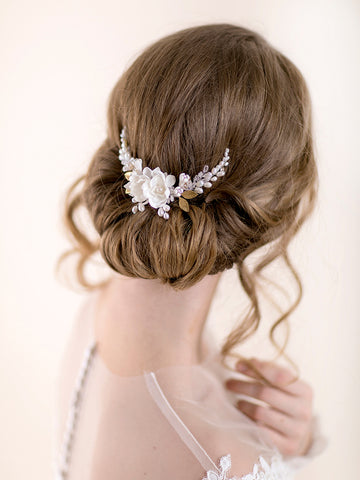 Flower Hair Comb | TINY DAHLIA & PEARL