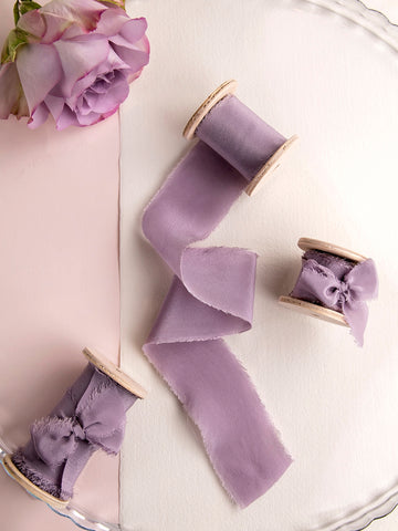 Silk ribbon | DUSTY PURPLE