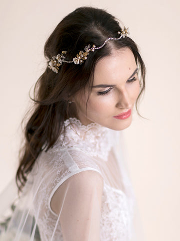 Flower Headpiece | SAKURA BLOOMS & RHINESTONE
