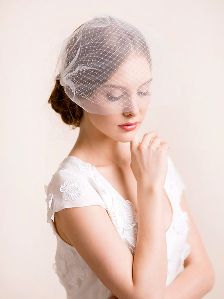 Double Bridal Birdcage Veil